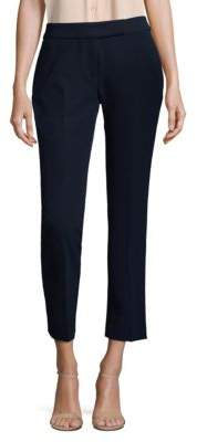 Milly Cropped Wide-Leg Pants
