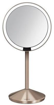 "Simple Human 5"" Sensor Makeup Mirror with Travel Case, Rose Gold Finish $130 thestylecure.com"