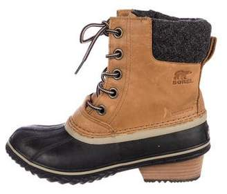 Sorel Round-Toe Ankle Boots