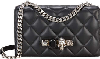 Alexander McQueen Jeweled Quilted Satchel Bag