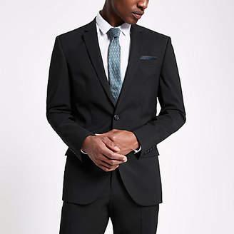 River Island Mens Black slim fit suit jacket