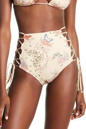 HAH | Hot-As-Hell High Waist Side Tie Print Bikini Bottoms