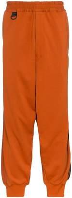 Y-3 side stripe cotton-blend track pants