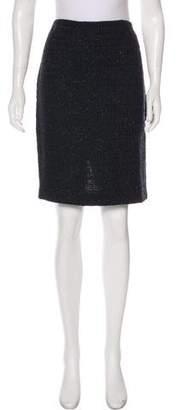 Couture St. John Tweed Bouclé Skirt