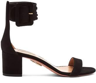 Aquazzura Casablanca multi-strap suede sandals