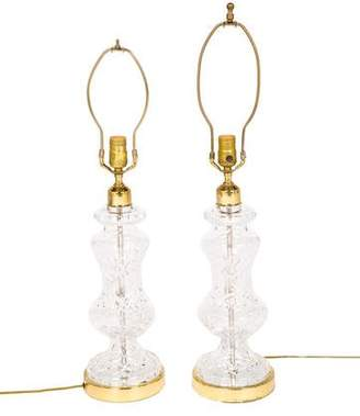Waterford Pair of Crystal Table Lamps