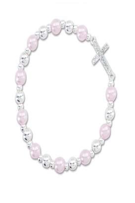 Periwinkle By Barlow Crystal Cross Bracelet