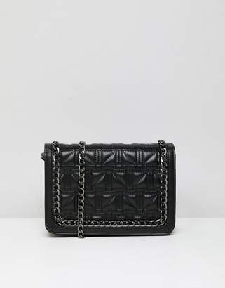 Asos DESIGN Square Quilt Chain Cross Body Bag