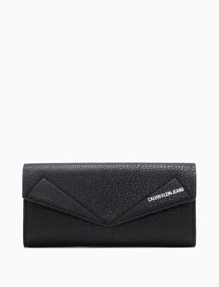 Calvin Klein Leather Flap Longfold Wallet