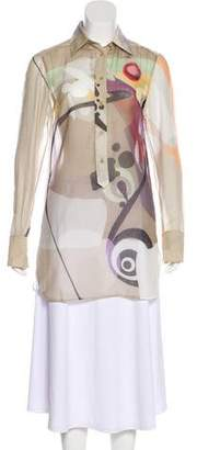 Akris Punto Printed Long Sleeve Tunic