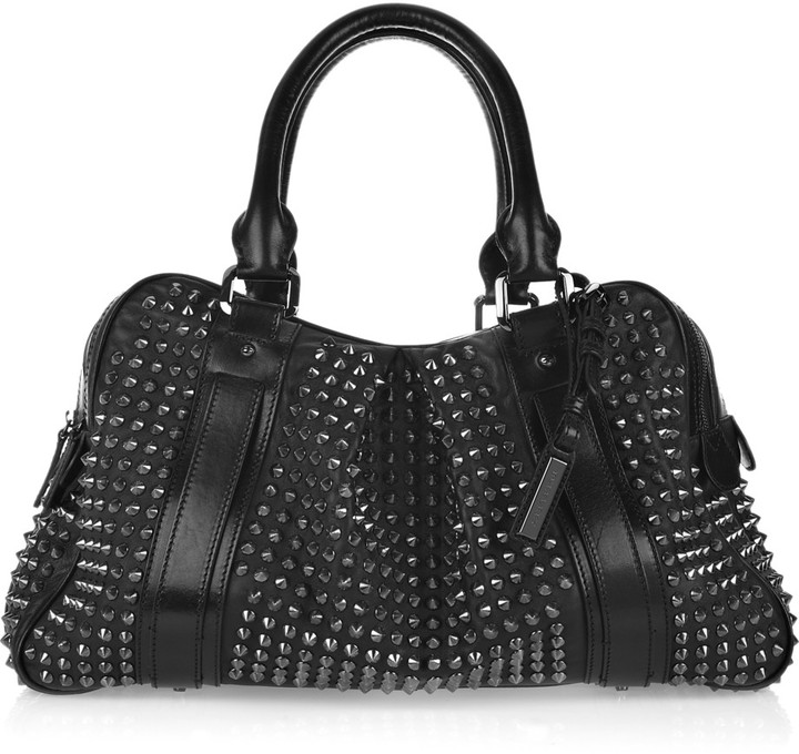 Burberry Studded leather Knight bag