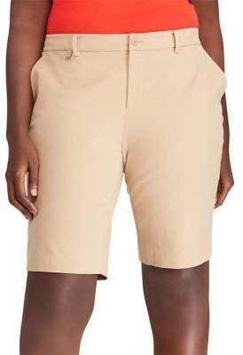 Lauren Ralph Lauren Plus Stretch Twill Shorts