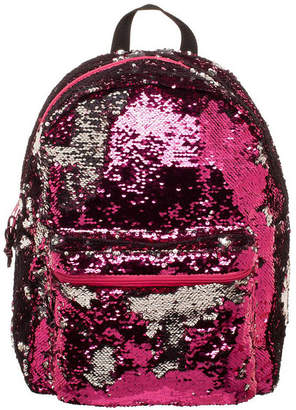 Novelty Accessories Pink & Rose Gold Reverse Sequins Backpack