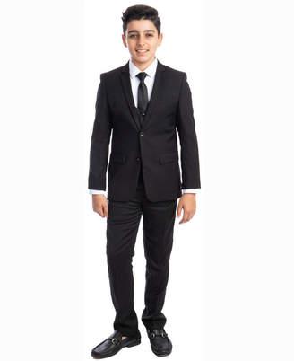 Perry Ellis Boy 5-Piece Shirt, Tie, Jacket, Vest and Pants Solid Suit Set