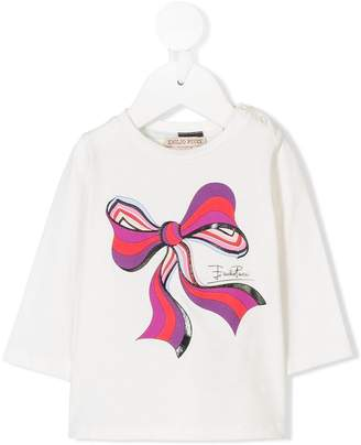Emilio Pucci Junior bow print tee