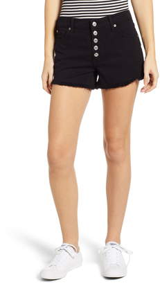 7 For All Mankind Button Fly High Waist Cutoff Shorts