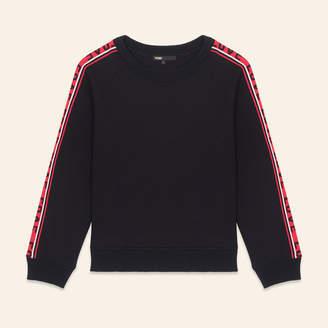 Maje Neoprene sweatshirt with bands