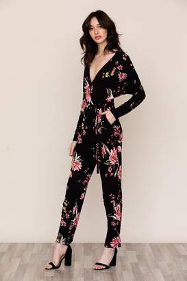 822a7634bc6 Jersey Long Sleeve Jumpsuit - ShopStyle