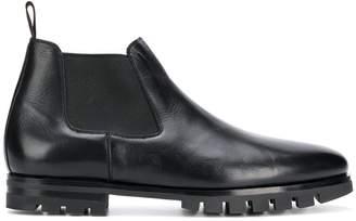 Santoni ridged sole Chelsea boots