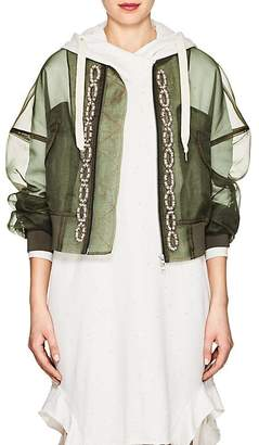 "BLINDNESS Women's ""Pierced"" Organza Bomber Jacket"
