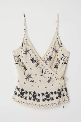 H&M Wrapover Camisole Top - Beige