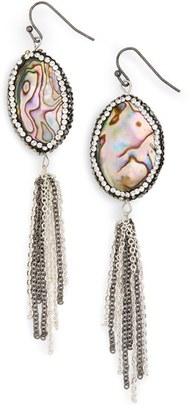 Women's Panacea Abalone Tassel Drop Earrings $32 thestylecure.com