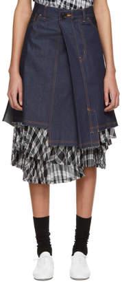 Comme des Garcons Indigo Denim Asymmetric Skirt