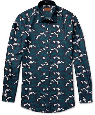 Tod's Cloud-Print Silk-Twill Shirt