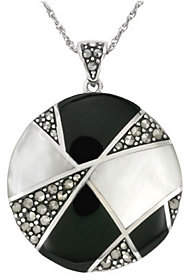 Mother of Pearl Suspicion Sterling Onyx & Mother-of-Pearl Penda