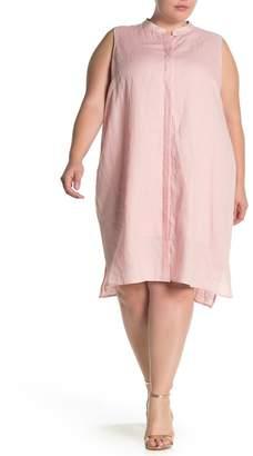 Anne Klein Linen Trapeze Dress (Plus Size)