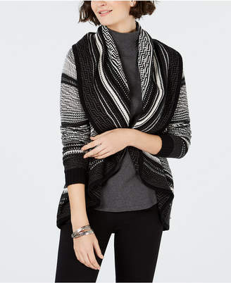 Charter Club Shawl-Collar Open-Front Cardigan