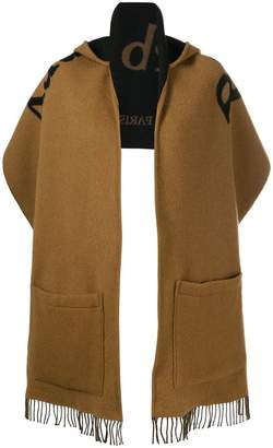 Burberry Archive Logo Wool Cashmere Hooded Scarf