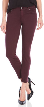 7 for all mankind Burgundy Skinny Jeans $198 thestylecure.com