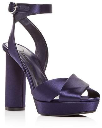 Oscar de la Renta Women's Satin High-Heel Platform Sandals