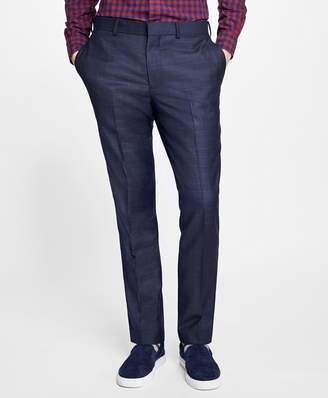 Brooks Brothers Slim-Fit Plaid Stretch-Wool Suit Trousers