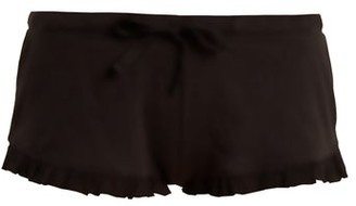 Skin - Raffaela Cotton Pyjama Shorts - Womens - Black