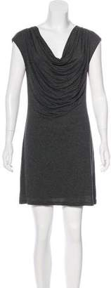 Velvet Cowl Neck Mini Dress w/ Tags
