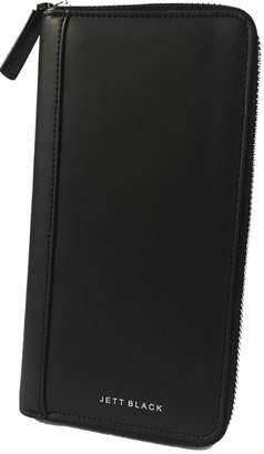 Jettblack Zip Leather Travel Wallet