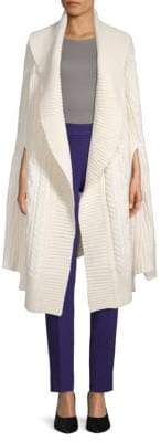 Burberry Cable-Knit Wool & Cashmere Cape