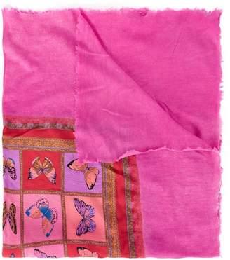 Avant Toi butterfly print scarf