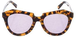 Karen Walker Tortoiseshell Mirrored Sunglasses