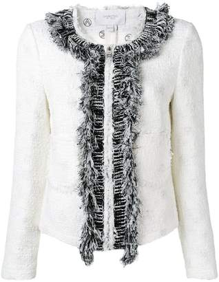 Giambattista Valli frayed tweed jacket