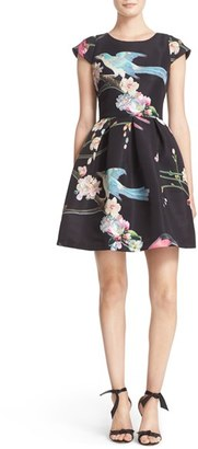 Women's Ted Baker London Zaldana Print Fit & Flare Dress $335 thestylecure.com