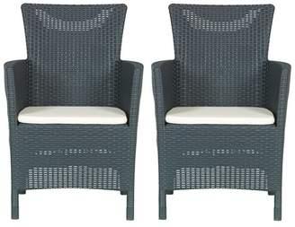 Keter Iowa Chair Set 2 Pack - Graphite