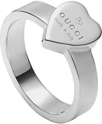 63bd8b9db236 Gucci Heart ring with trademark