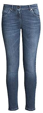 Brunello Cucinelli Women's Whiskered Skinny Jeans
