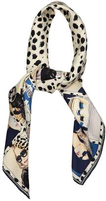 Christian Dior Blue Silk Scarves
