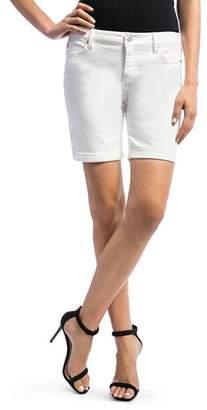 Liverpool Corine Denim Shorts in Bright White
