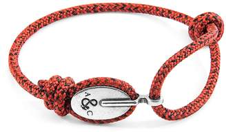 ANCHOR & CREW - Red Noir London Silver & Rope Bracelet