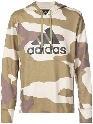 adidas logo print hoodie